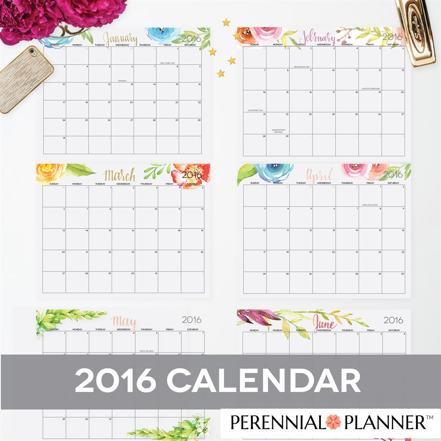 ... And Editable 2016 Calendar By Month For Kids | Calendar Template 2016