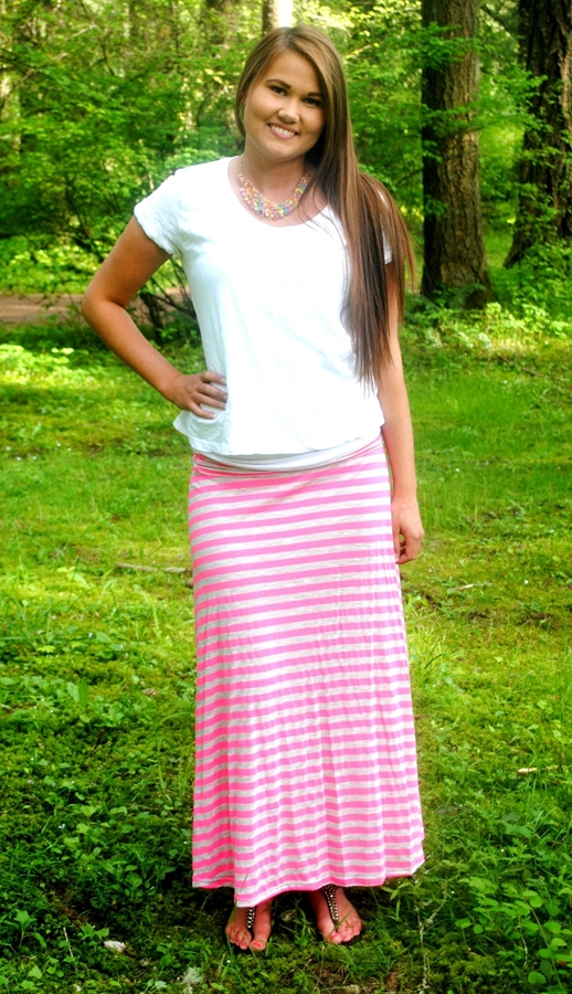 bright stripe maxi skirt 3 color choices