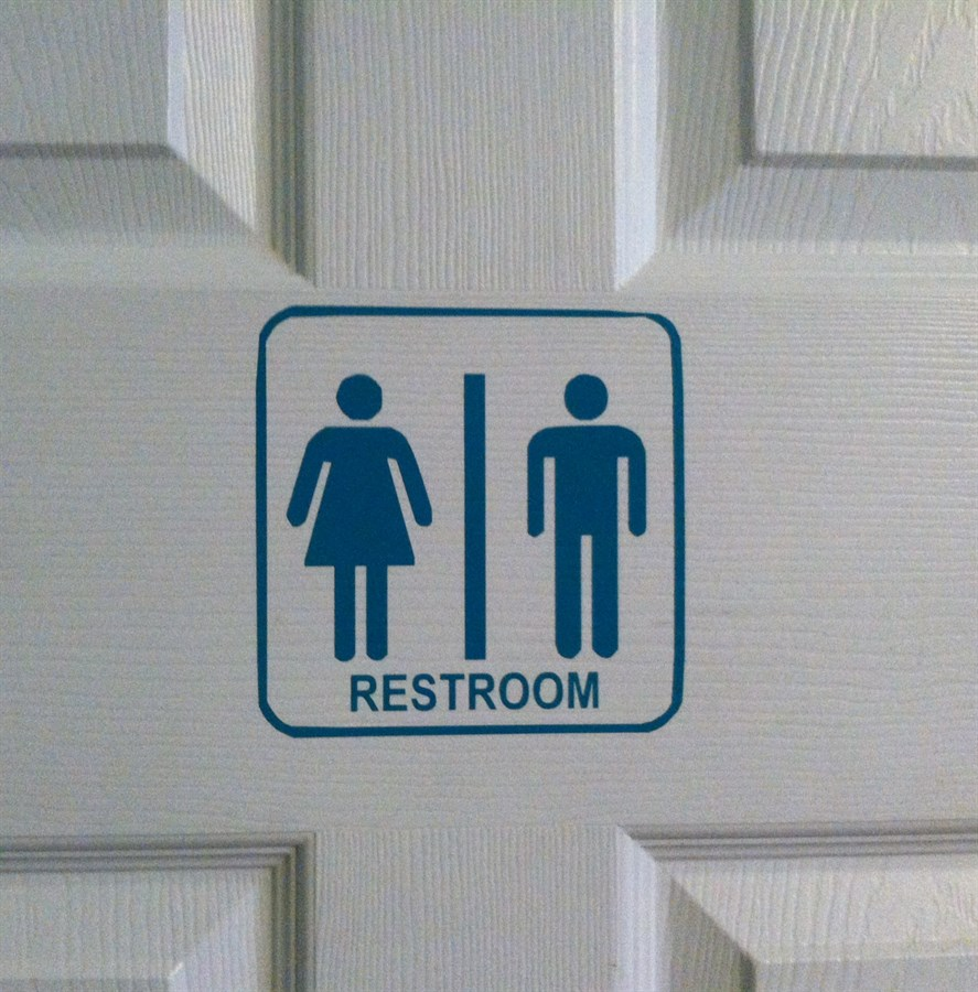 Cute Vinyl Restroom Signs Use For Your Home Or Business Jane