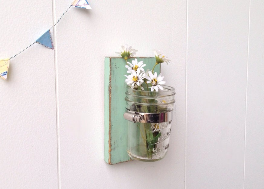 Wall Sconces With Vases : Mason Jar Wall Vase/Sconce Jane